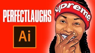 ADOBE ILLUSTRATOR - Perfectlaughs (HOW TO MAKE A CARTOON TUTORIAL)