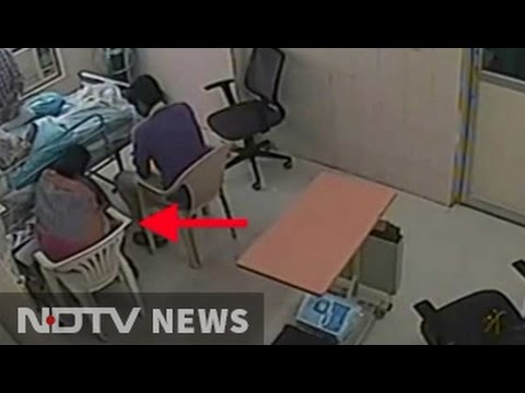 Thumbnail: Caught on CCTV, woman doctor removed IV line for father
