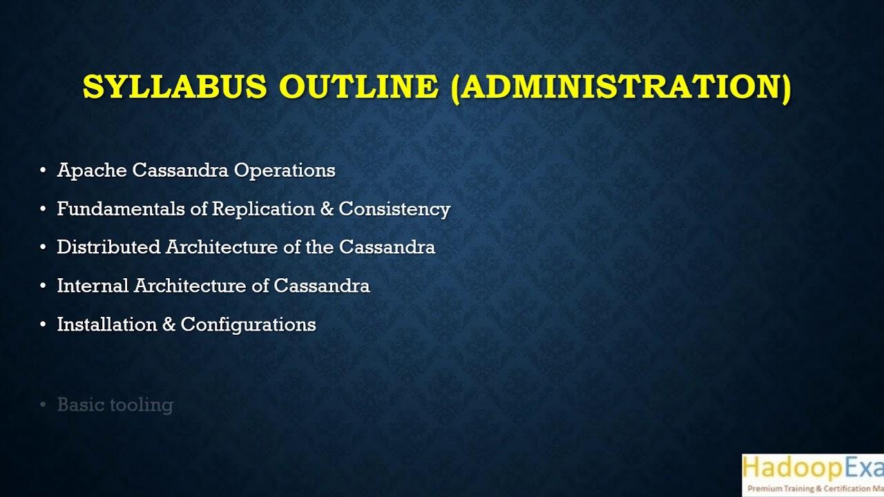 200 Cassandra Administrator Certification Apache Datastax