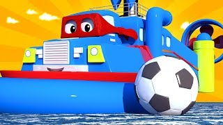 Special FIFA - The hover boat Carl the Super Truck - Car City ! Cars and Trucks Cartoon for kids