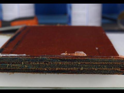 DIY: Micarta - Burlap & Blue paper