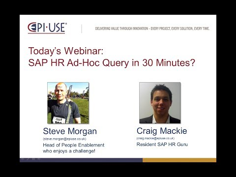 Webinar - How to use SAP HR Ad-Hoc Query in 30 Minutes?