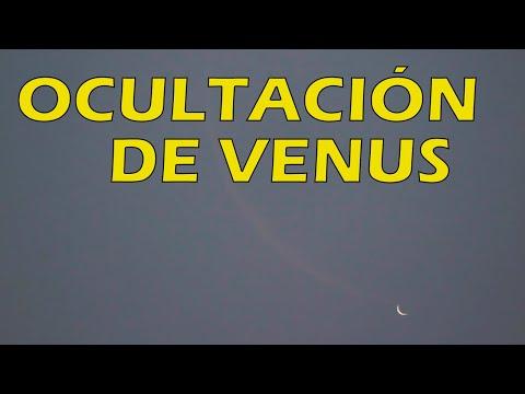 Lunar OCCULTATION of Venus, 19 June | OCULTACIÓN de Venus por la Luna 19 de junio de 2020