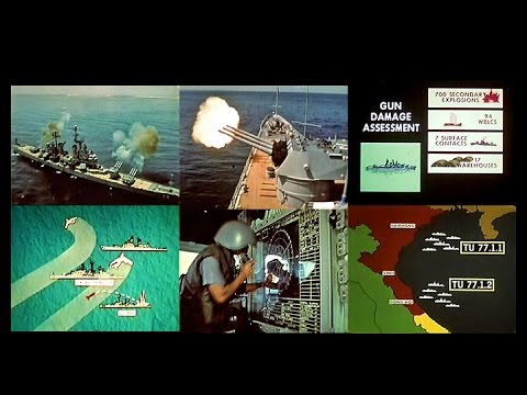 U.S. Navy Hit & Run Gunfire Strikes on North Vietnam (1973 - Restored)