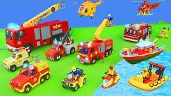 Feuerwehrmann Sam Unboxing: Alle Spielzeugautos & neue Jupiter Feuerwehrautos für Kinder deutsch