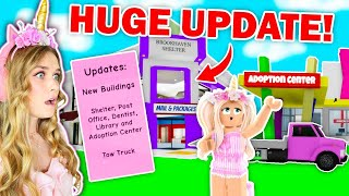 HUGE *NEW* UPDATE With NEW STORES In Brookhaven! (Roblox)
