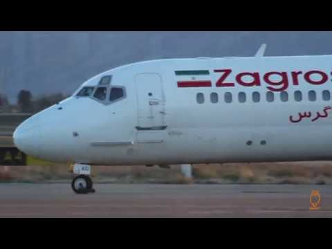 Zagros Airlines McDonnell Douglas MD-82 Shiraz SHZ to Tehran