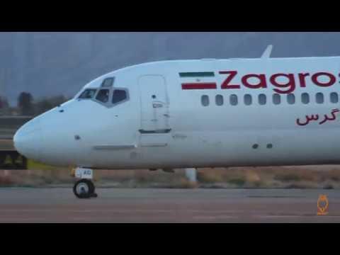 Zagros Airlines McDonnell Douglas MD-82 Shiraz SHZ to Tehran Mehrabad THR