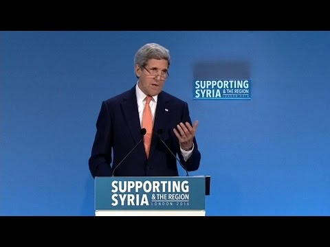 Secretary of State John Kerry at the Syria Donors Conference