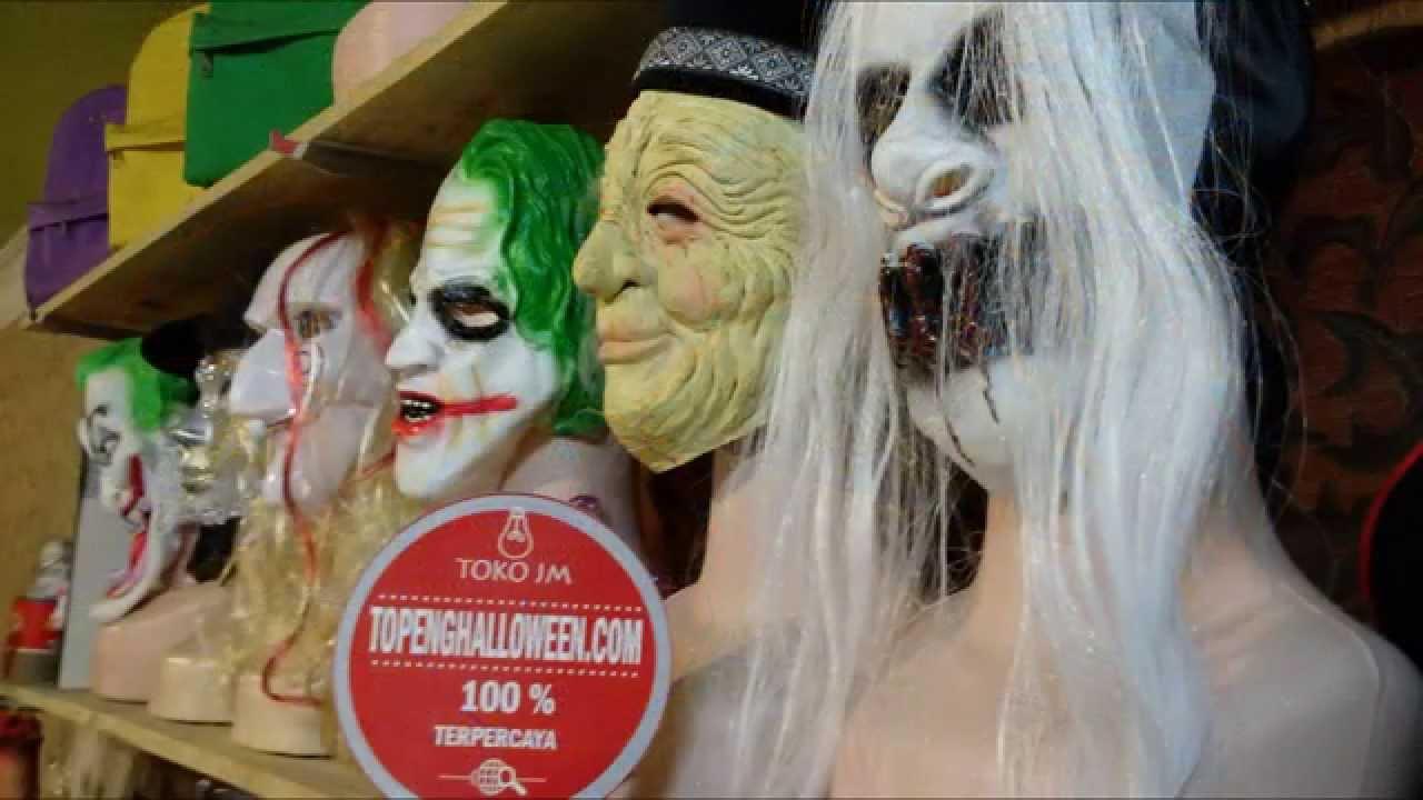 Tempat Jual Topeng Kostum Dan Dekorasi Halloween Jakarta Youtube