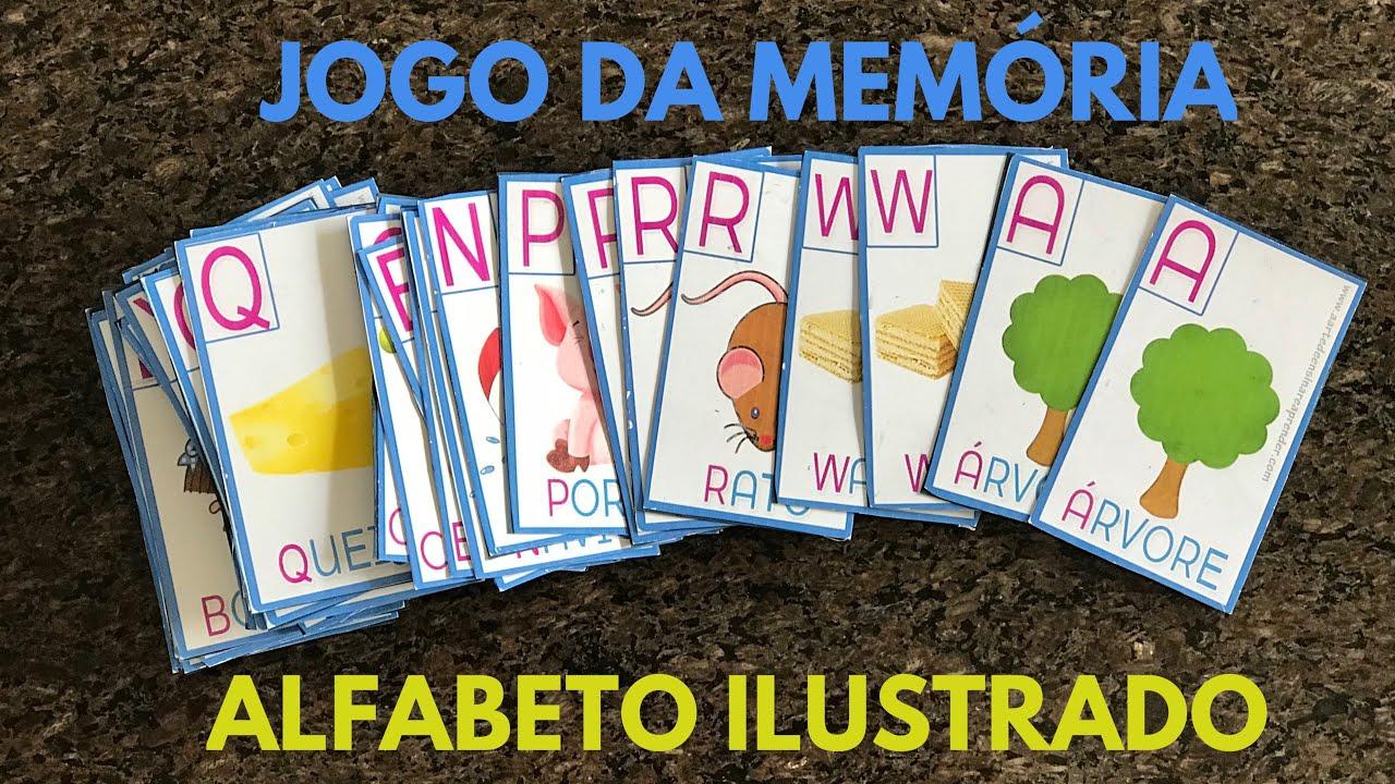 Jogo Da Memoria Alfabeto Ilustrado Youtube