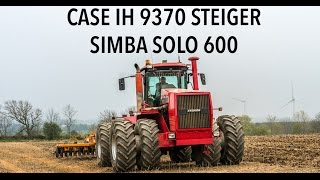Case IH Steiger 9370 | Simba Solo 600 Working Land 4k