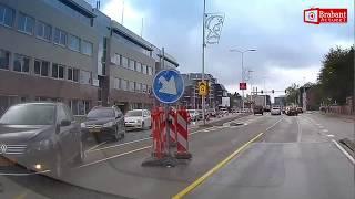 [DASHCAM] Auto ramt gevel kantoorpand in Eindhoven