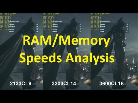 Batman Arkham Knight: RAM speeds test - 2133 vs 3200 vs 3600 | i7 7700k &  GTX 1080 Ti OC