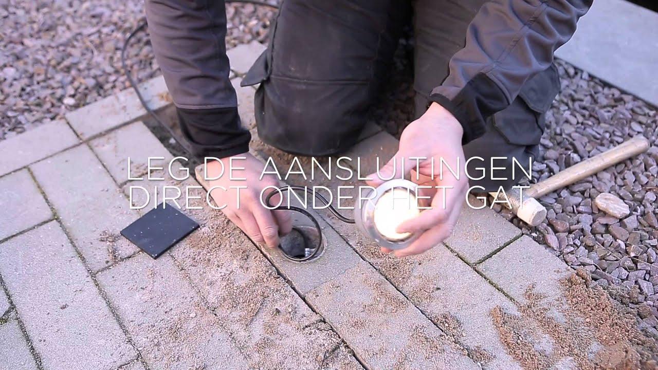 in-lite buitenverlichting aanleggen: een 60 mm grondspot aansluiten ...