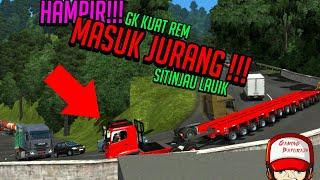 Truck Hino OVERSIZE HAMPIR MASUK JURANG!!! - Sitinjau lauik #ETS2
