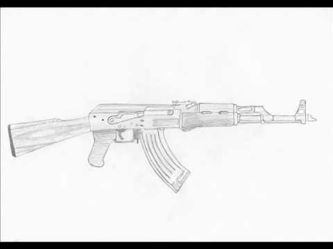 How To Draw An Ak 47