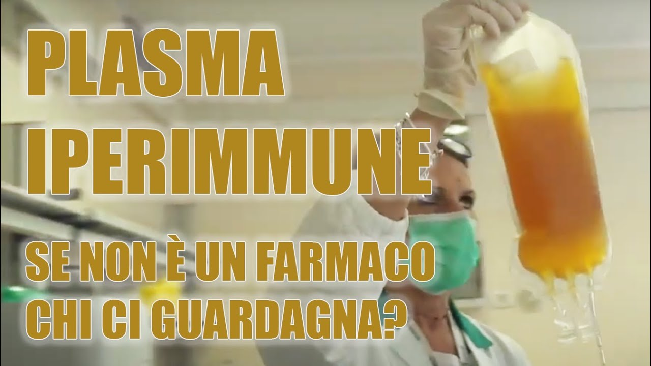 Plasma iperimmune l'unica cura disponibile da subito per il virus una speranza per tutta Italia