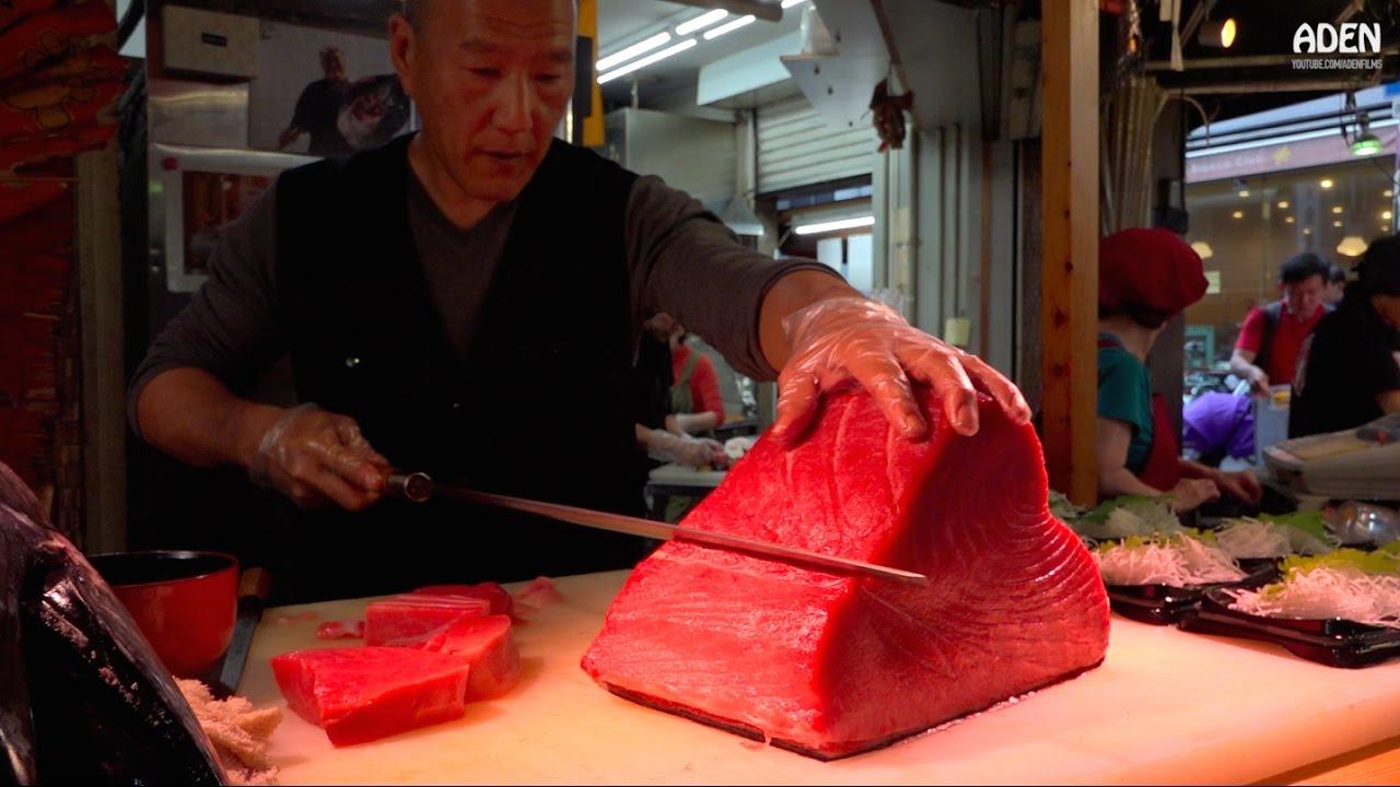 Sashimi Street Food In Japan