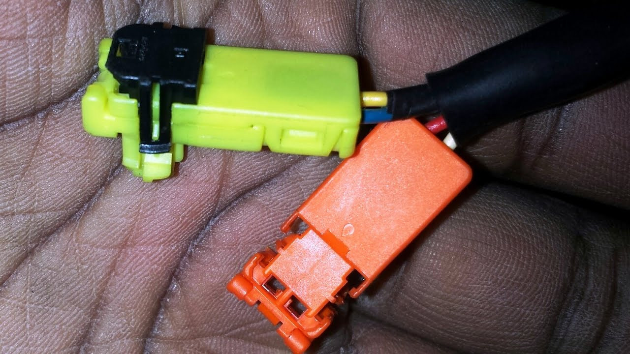 Remove Yellow Or Orange Plug For Airbag Seatbelt Other Srs System Wiring Harness Connectors 2008 Nissan Rogue Parts Infiniti