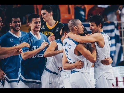 Ευρωπαϊκό U20 : Ελλάδα-Λιθουανία 76-72 Video με τα καλύτερα στιγμιότυπα του αγώνα . H διάθεση των εισιτηρίων για τους ημιτελικούς