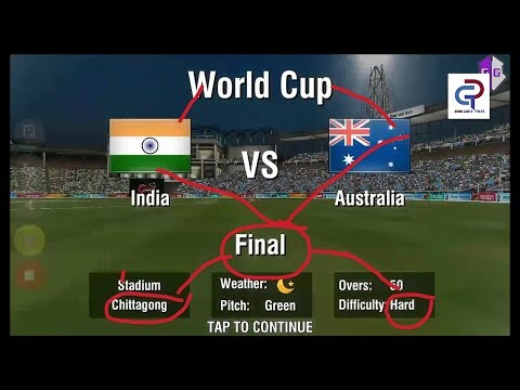 wcc2 world cup final match gameplay India VS Australia