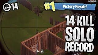 14 KILL SOLO RECORD! PRO FORTNITE MOBILE GAMEPLAY (Fortnite iOS Season 4)