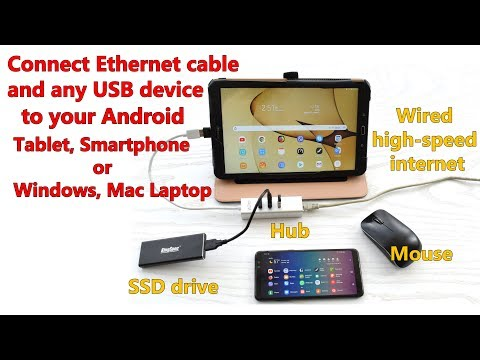 Connect Android Or Laptop To Ethernet Cable Or Any USB Device Using Ethernet/USB Adapter