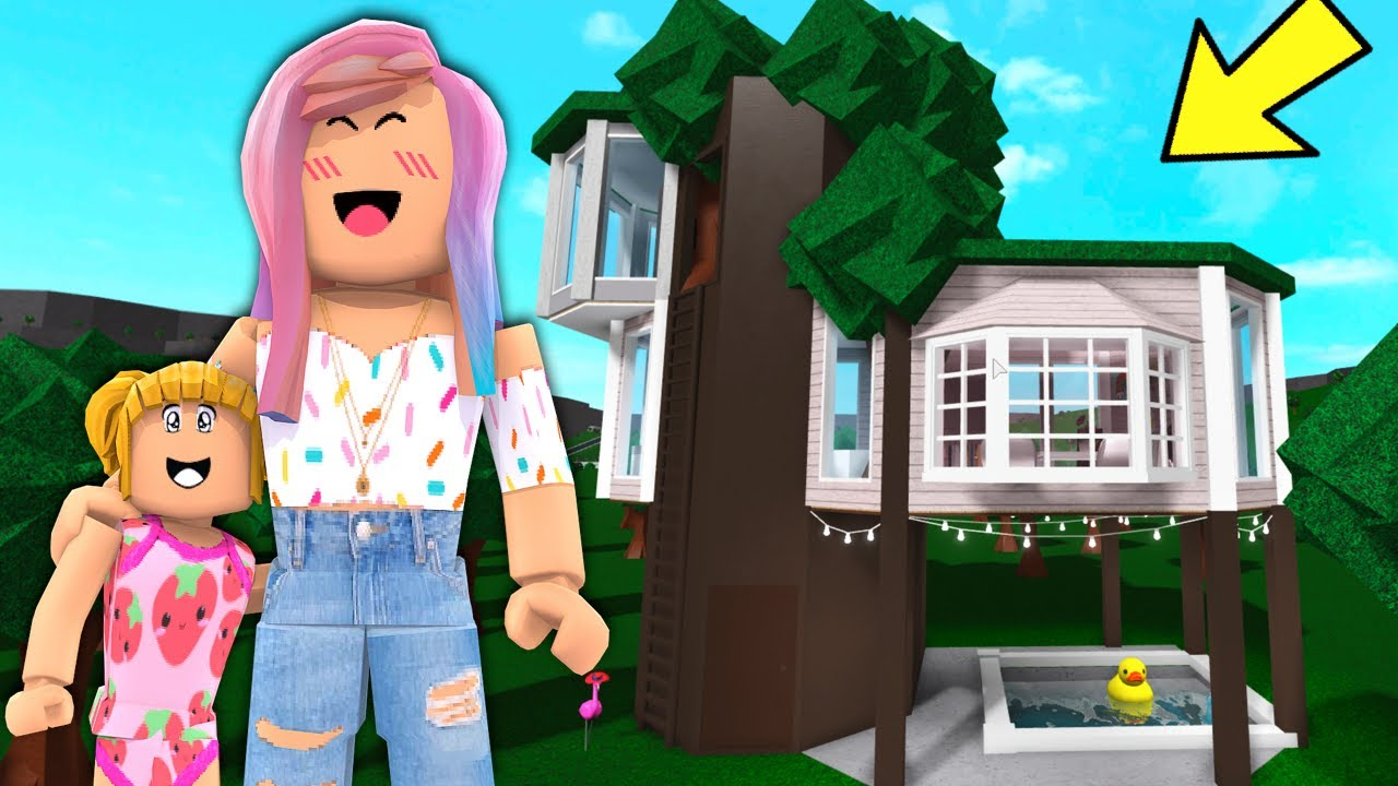 Goldie Moves To Her New Bloxburg Tree House Roblox Family