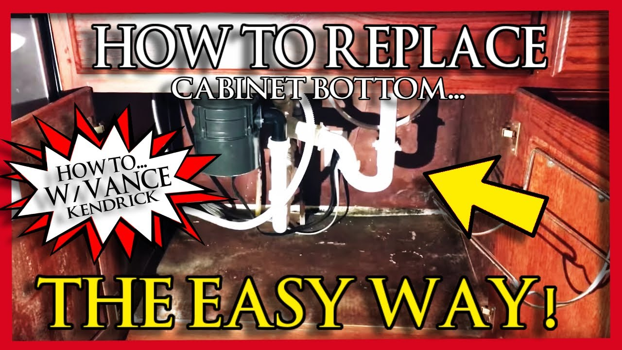 How To Replace Rotten Sink Base Cabinet Bottom The Easy Way Mold Water Damage