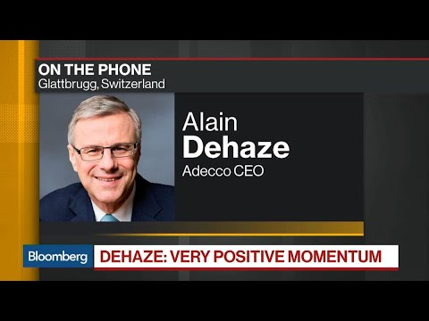Adecco CEO Dehaze Expects More Companies To Create Jobs