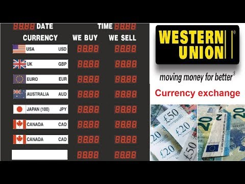 Western Union Money Rate Currency Exchange Rates