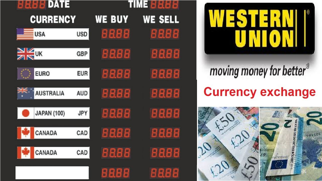 Open Market Currency Rates Western Union Today U Exchange Rate In Stan
