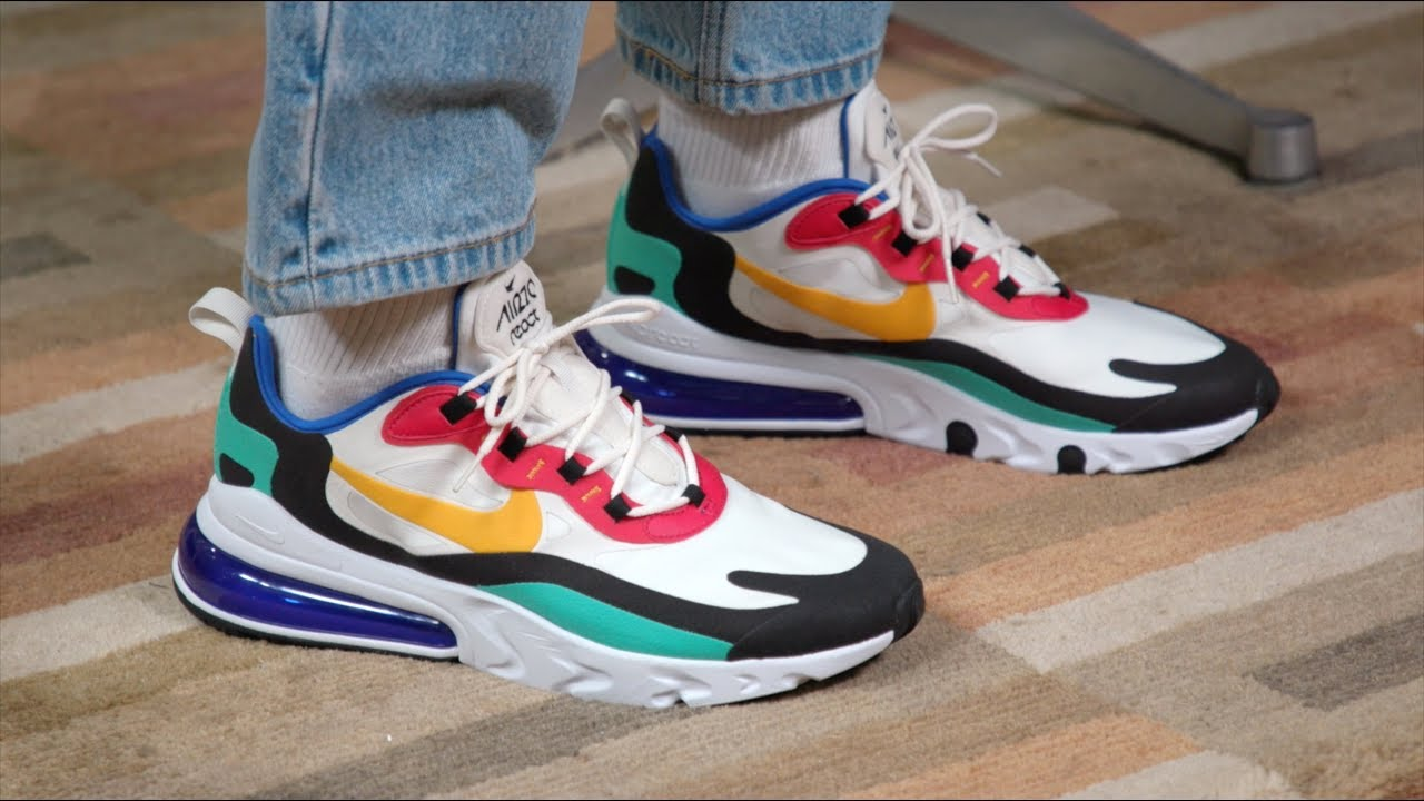 air max 270 react bauhaus on feet