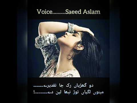 Ruk Ja Taqdeeray By Saeed Aslam| Punjabi Poetry  Whatspp Status By Saeed Aslam Poetry Collections
