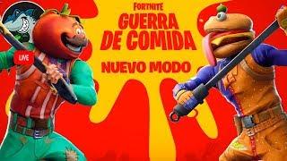 NUEVO MODO DE JUEGO GUERRA DE COMIDA | Fortnite Battle Royale