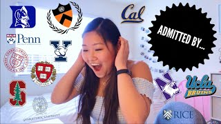 IVY ADMITTED?! ll College Decision Reactions 2019: Harvard, Stanford, Yale, Cornell, Duke, UCLA...
