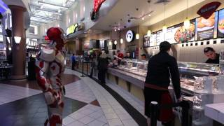 Iron Man Shops at the Mall!