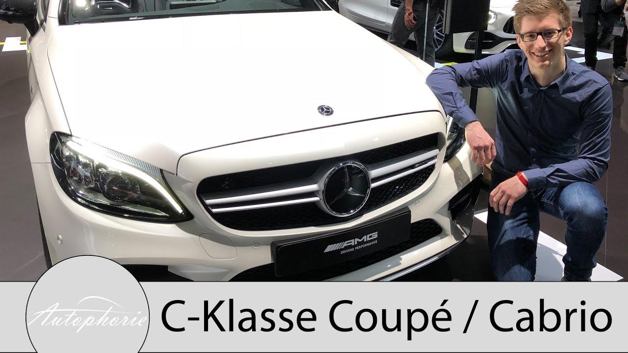 2018 Mercedes Benz C Klasse Coupé Und Cabriolet Sitzprobe Und