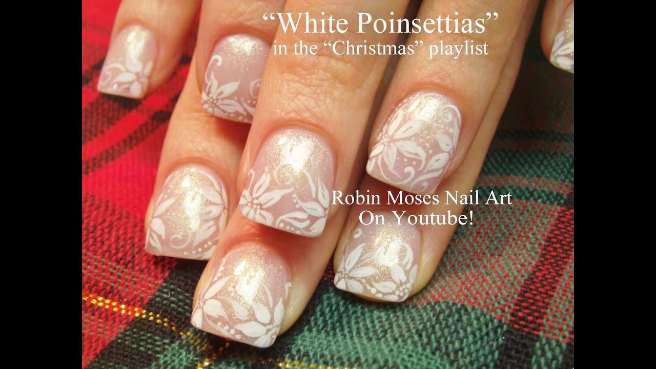 Elegant and easy christmas nails white poinsettias nail art elegant and easy christmas nails white poinsettias nail art design youtube prinsesfo Choice Image