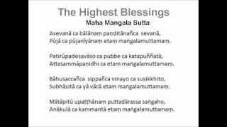 maha mangala sutta (Highest Blessings)