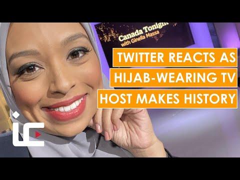 Social media reacts as hijab-wearing TV host MAKES HISTORY