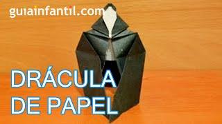 Drácula de papel. Origami para Halloween
