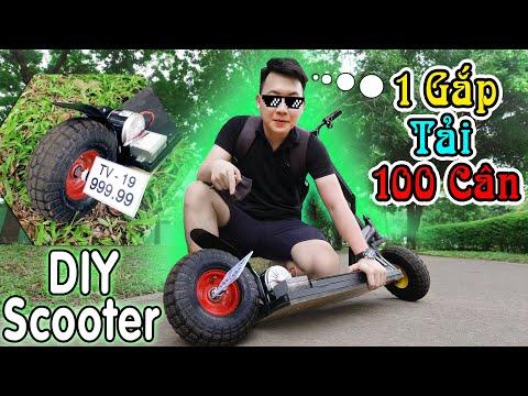 Chế Xe Điện  Scooter Bánh Béo 1 Gắp Đơn - Cực Lạ Giá Rẻ Chỉ Dưới 1 Tỷ ( DIY Scooter)