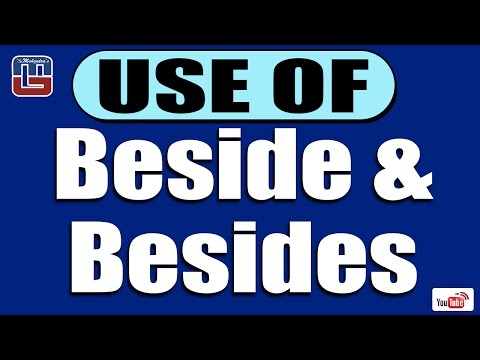 USE OF BESIDE & BESIDES SERIES | ENGLISH | ALL COMPETITIVE EXAMS