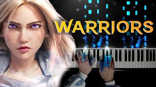 Warriors   League of Legends Season 2020 ft. Imagine Dragons, 2WEI and Edda Hayes   piano cover