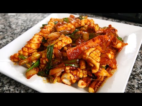 Spicy Stir-fried Squid (Ojingeo-bokkeum: 오징어볶음) 10th Anniversary Special!