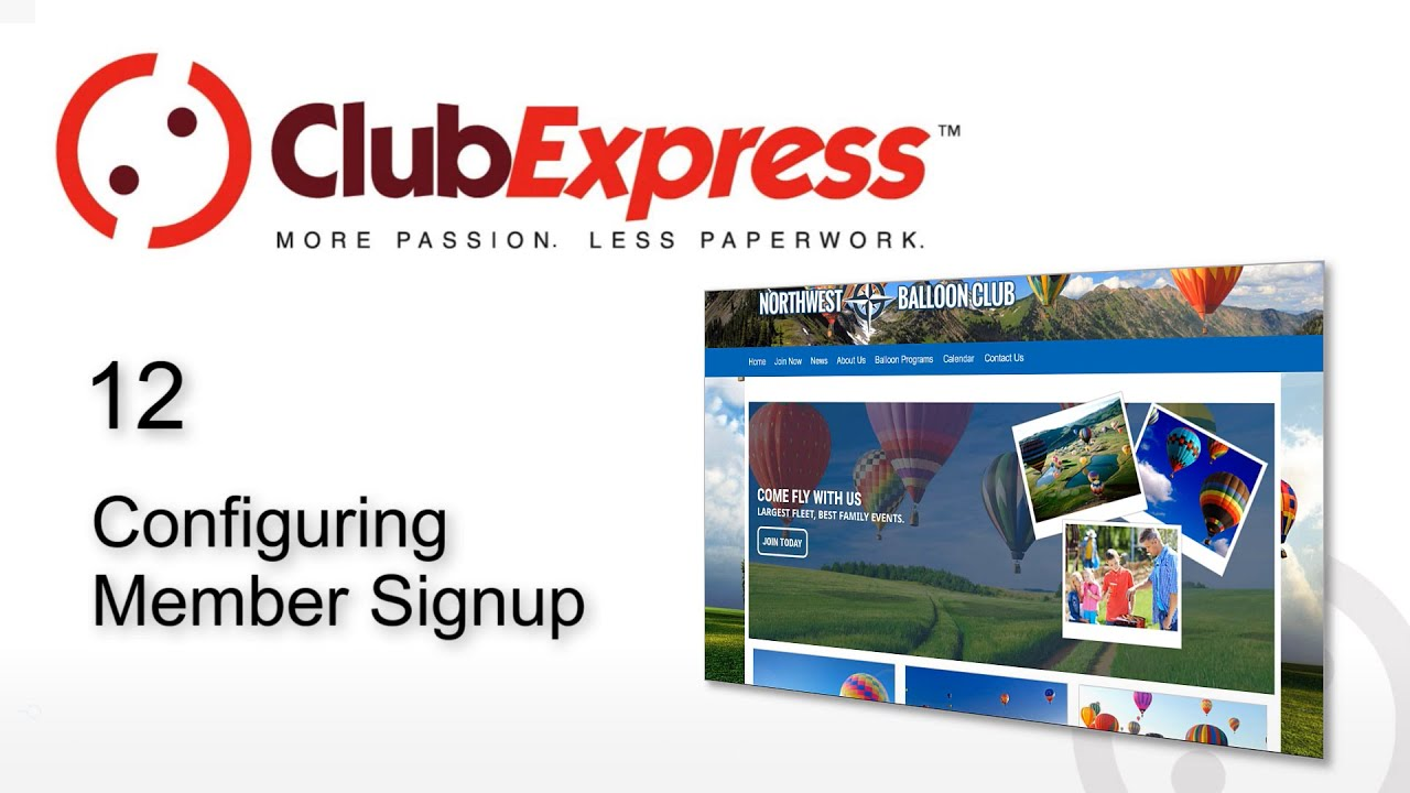ClubExpress - 12 Configuring Member Signup