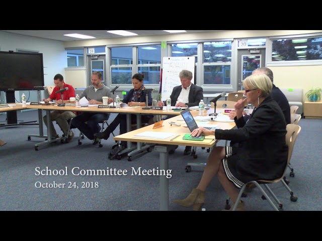 Mashpee Public School Committee Meeting 10 24 18