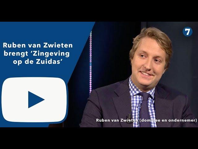 Ruben van Zwieten (dominee en koopman) brengt zingeving op de Zuidas